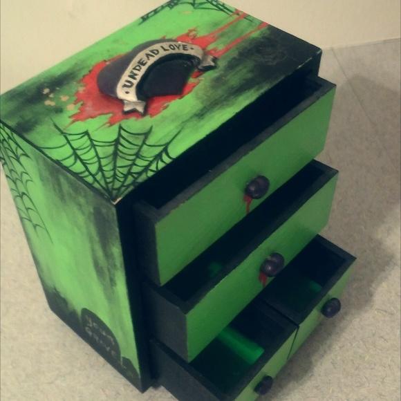 Custom Diy Jewelry Box Zombie Halloween Punk Goth